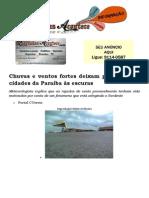Chuvas e ventos fortes deixam parte de seis cidades da Paraíba às escuras