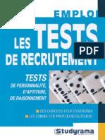 76789137 Les Tests de Recrutement Emploi Studyrama