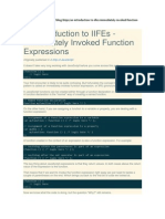 An Introduction to IIFEs - Immediately Invoked Function Expressions
