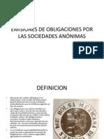EMISIONES DE OBLIGACIONES POR LAS SOCIEDADES ANÓNIMAS