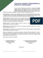 CONTRATO PARTICULAR DE CESSÃO