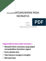 Kegawatdaruratan Pada Neonatus