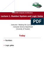 CompArch Lec01 Number System and Gates