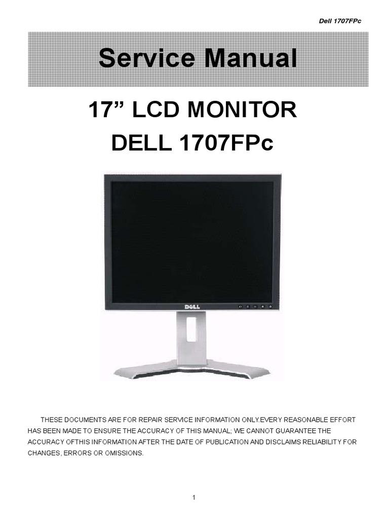 Dell 1707FPc Service Manual   Computer Monitor   Contrast ...