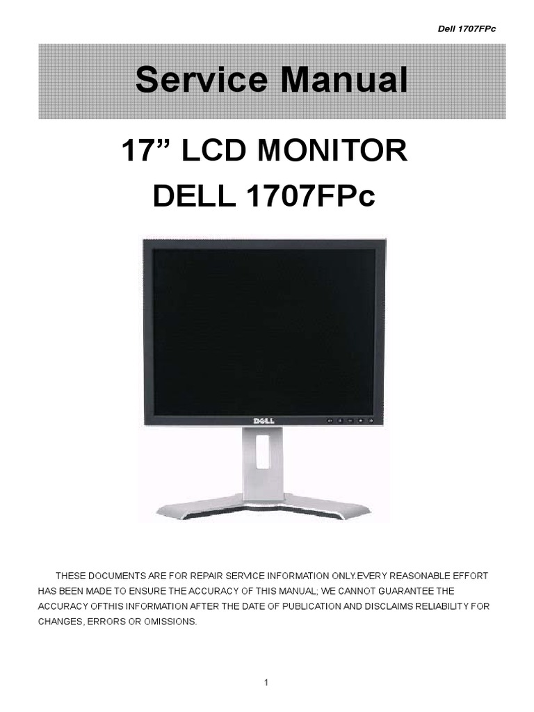 Lg Lcd Monitor Service Manual