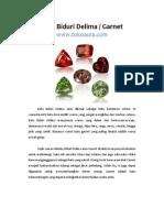 Manfaat Batu Biduri Delima