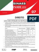 Enade DIREITO 2012
