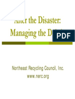 After the Disaster Managing the Debris