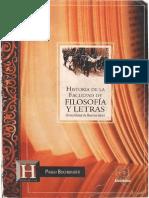 Buchbinder, P. HistoriadelaFacultaddeFilosofiayLetras