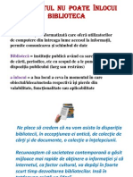 Biblioteca Versus Internet