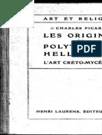Picard. Les origines des religiones préhelléniques