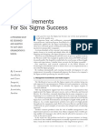 12 Requirements for Six Sigma Success