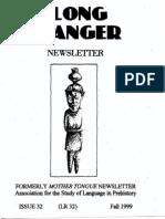 Long Ranger Newsletter 32 (Fall 1999)