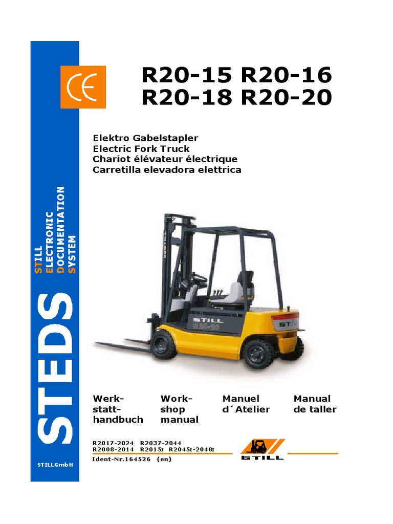 Still Electric Fork Truck R20-15 R20-16 R20-18 R20-20 Factory ...