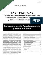 Instrucciones de Mantenimiento y Funcionamiento Cxv