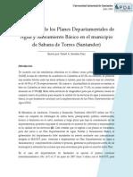 Aplicación hidraulica de los PDA en el departamento de Santander