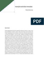 Artigo Abramovay - Anticapitalismo e inserção social dos mercados