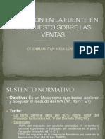 RETENCIÓN EN LA FUENTE EN EL IMPUESTO SOBRE IVA.ppt