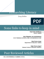 EH100L, Tips on researching literacy assignment