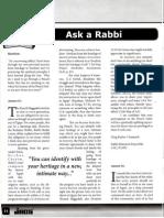 JACS Article Ask a Rabbi