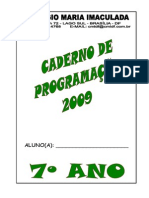 Caderno Programacao 7 Ano
