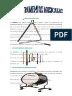 Los Instrumentos Musicales Idiofonos