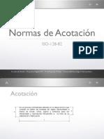 Normas de Acotación, ISO-182-82