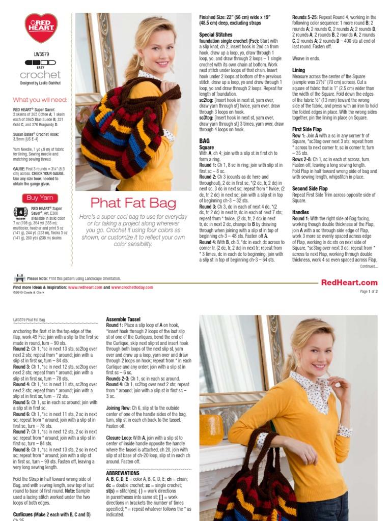 Phat Fat Bag | Crochet | Yarn