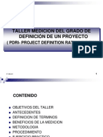 Presentación Taller (PDRI Project Definition Rating Index)