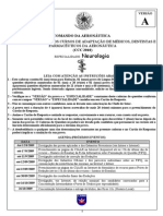 Ciaar 2009 Ciaar Medicos Farmaceuticos e Dentistas Da Aeronautica Neurologia Prova