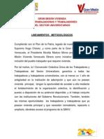Metodologia Gran Mision Vivienda Sector Universitario 21-10-13