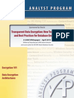 Transparent Data Encryption New Technologies
