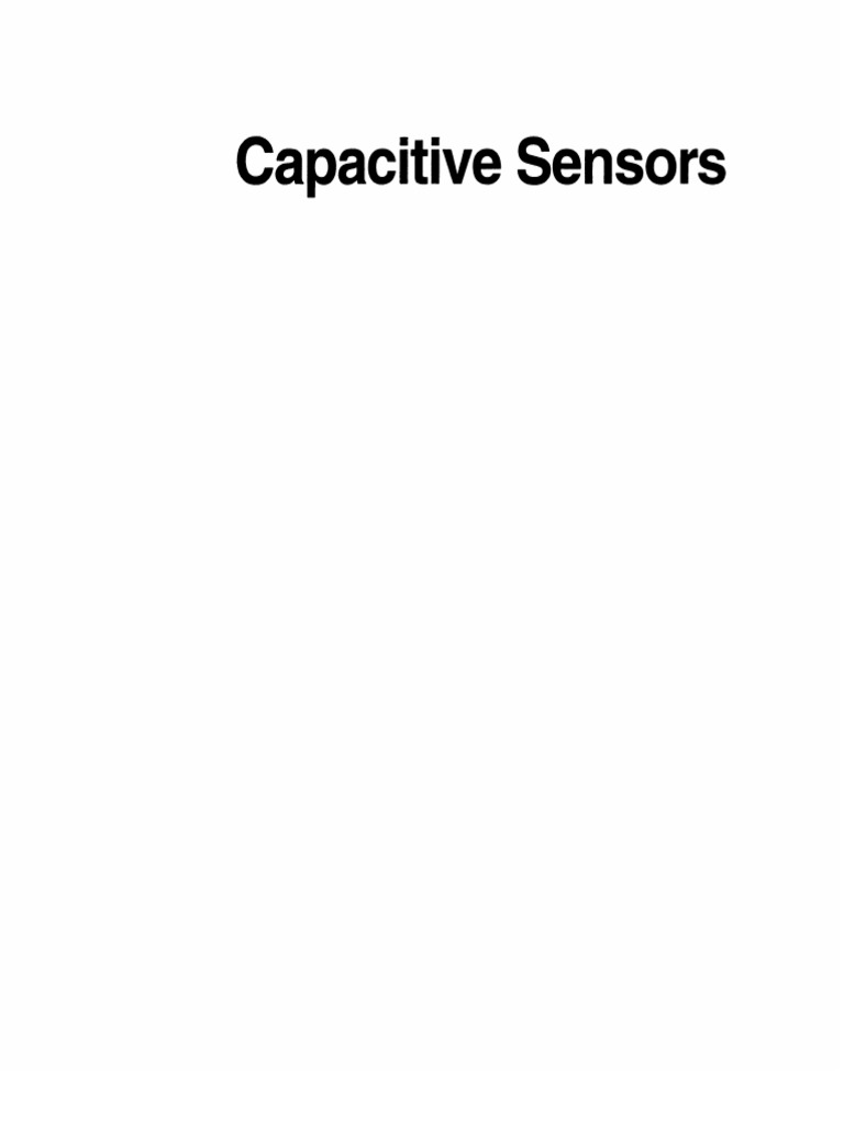 Incredible Capacitive Sensors Design And Applications Electric Current 2 6K Wiring Cloud Hisonuggs Outletorg