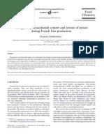 Alterações de conteúdo de polissacarídeos e textura da batata