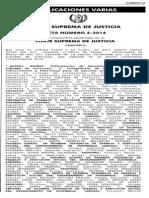 Acta 4-2014 de CSJ, Integración de los Tribunales de Conciliación y Arbitraje 2014.pdf