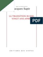 150500430 La Transition Russe Vingt Ans Apres Russie Economie Politique Vladimir Poutine Boris Eltsine