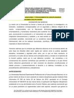 Proyecto de Reglamento Disciplinario UNEFA