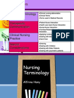 Nursing Terminology