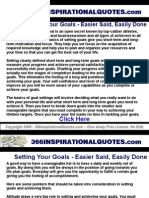 Setting Your Goals Easier Said Easily Done Inspirational Quotes