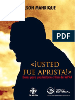 Usted Fue Aprista- Nelson Manrique