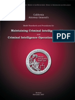 CA Ag Guidelines for Criminal Intelligence Files November 2007