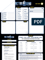 Doctor Who Character Blank Sheet