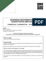 f1 - Business Maths August 07