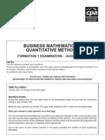 f1 - Business Maths August 08