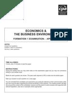 F1 - Economics April 2007