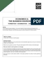 F1 - Economics April 2008