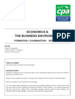 Economics & the Business Environment