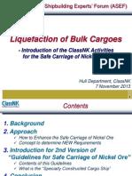 Liquefaction of Bulk Cargoes