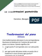 Veronica Gavagna Trasformazioni Geometriche