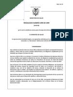Resolucion 1995 de 1999 Historia Clinica